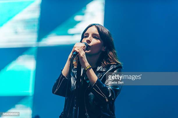 Lauren Mayberry of CHVRCHES performs live at Flow Festival on August 13 2016 in Helsinki Finland
