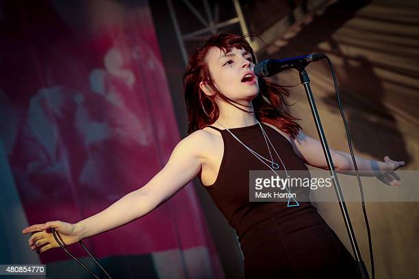 Lauren Mayberry of Chvrches performs on Day 7 of the RBC Royal Bank Bluesfest on July 15 2015 in Ottawa Canada
