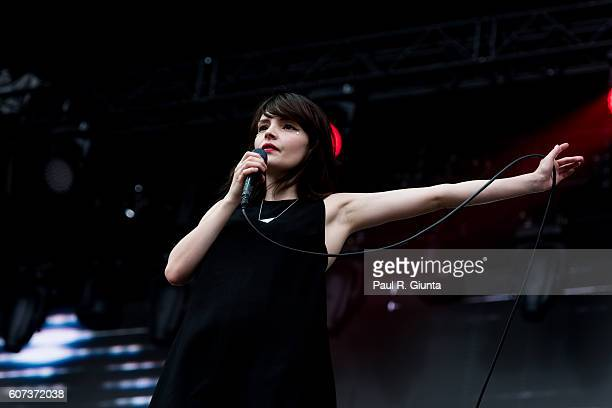 Lauren Mayberry of CHVRCHES performs on stage at 2016 Music Midtown at Piedmont Park on September 17 2016 in Atlanta Georgia