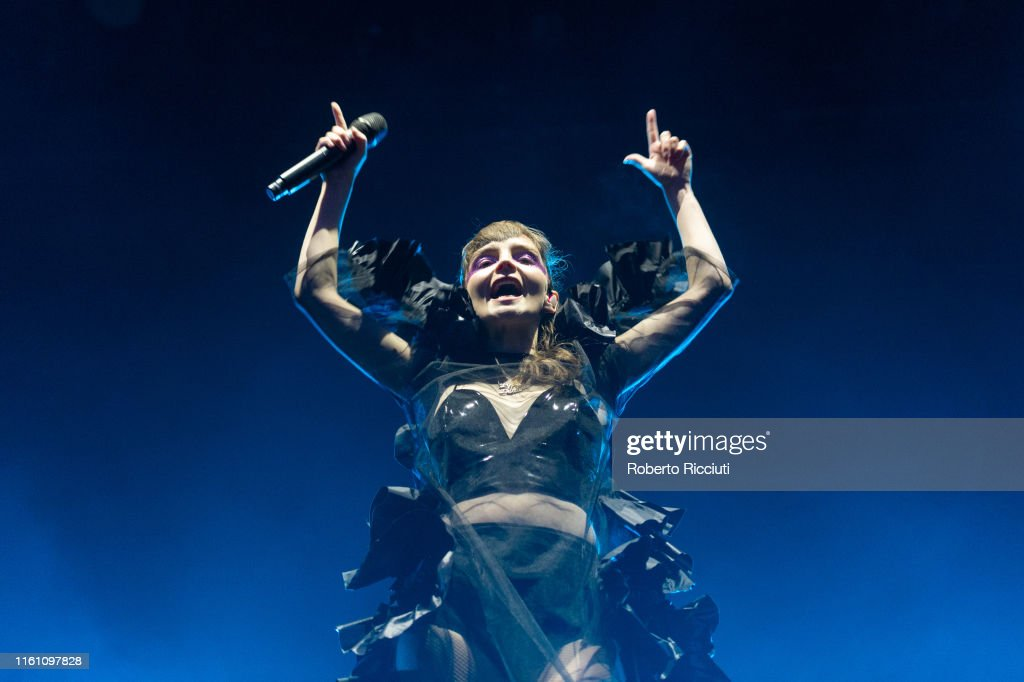 CHVRCHES Perform At Princes Street Gardens, Edinburgh : News Photo