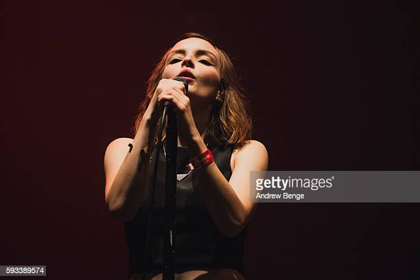 Lauren Mayberry of Chvrches performs on the Heineken Stage during day 1 of Lowlands Festival 2016 on August 19 2016 in Biddinghuizen Netherlands