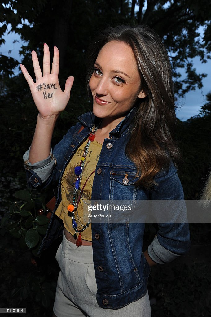 Lauren Mayhew attends the Mission Save Her's Private Party Hosted by Eric Benet and Reggie Benjamin at a Private Residence on May 22, 2015 in Calabasas, California.