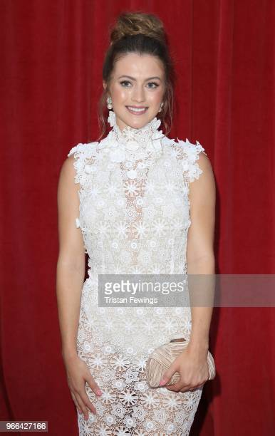 Lauren McQueen attends the British Soap Awards 2018 at Hackney Empire on June 2 2018 in London England