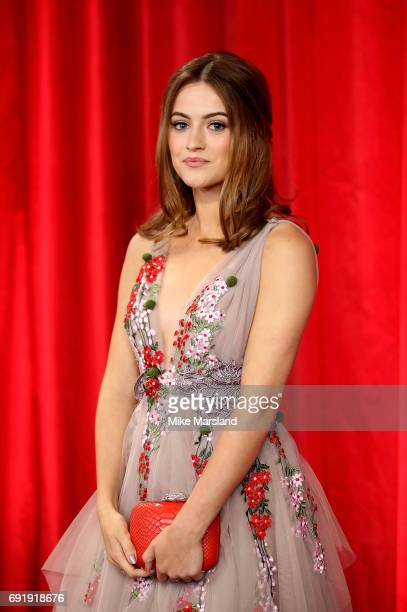 Lauren McQueen attends The British Soap Awards at The Lowry Theatre on June 3 2017 in Manchester England The Soap Awards will be aired on June 6 on...