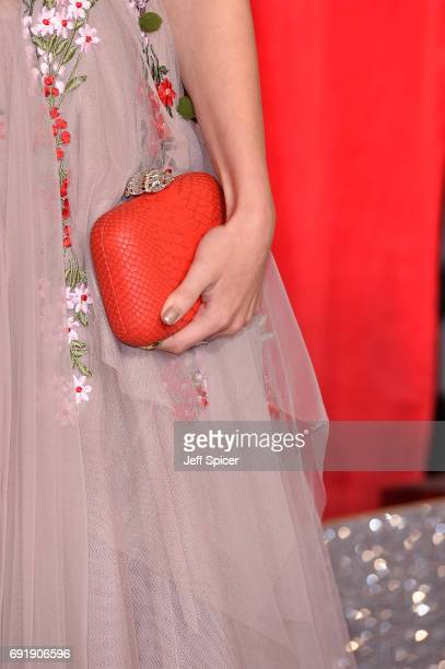 Lauren McQueen clutch detail attends The British Soap Awards at The Lowry Theatre on June 3 2017 in Manchester England The Soap Awards will be aired...