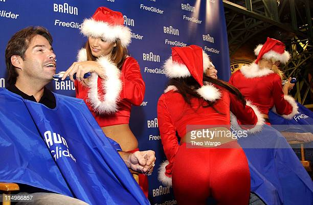 Lauren Michelle Hill, February 2003 Playmate, Christina Santiago, 2003 Playmate of the Year and Divini Rae, March 2003 Playmate using the Braun Free...