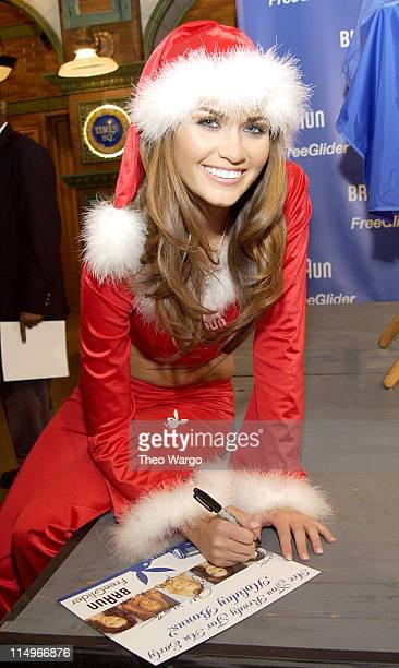 Lauren Michelle Hill February 2003 Playmate during Braun Free Glider Hosts PreHoliday Pampering Session Featuring Playboy Playmates in New York City...