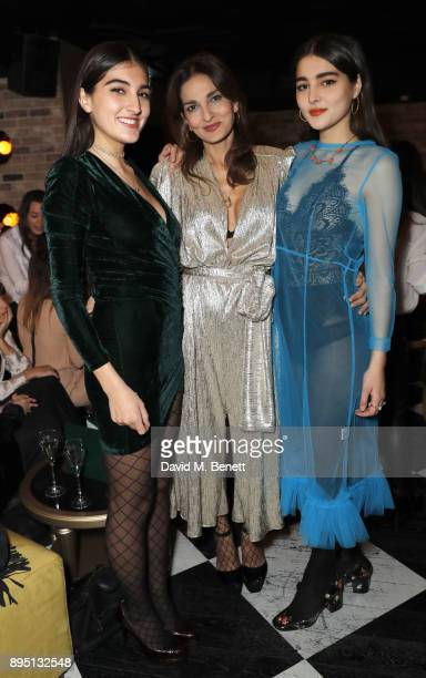 Lauren Mills Yasmin Mills and Maddie Mills attend event organiser Yasmin Mills and her daughters Lauren and Maddie's Christmas Party at new Mayfair...