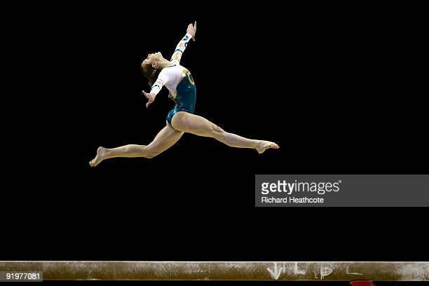 Lauren Mitchell of Australia competes in the beam event during the Apparatus Finals on the sixth day of the Artistic Gymnastics World Championships...