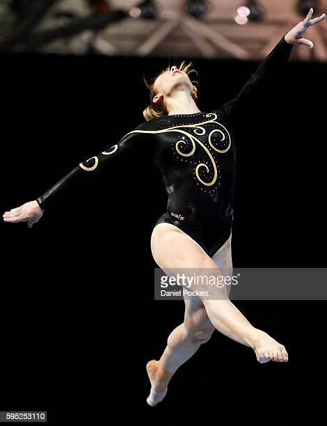 Lauren Mitchell of WA competes on the Beam during the Australian Gymnastic Championships Mens and Womens All Round Final on May 22 2015 in Melbourne...
