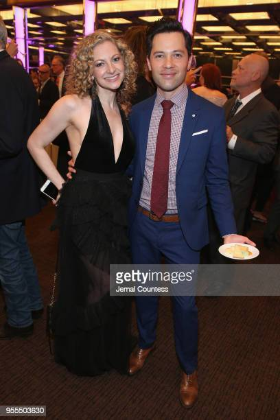 Lauren Molina and Jason Tam attend the afterparty of the 33rd Annual Lucille Lortel Awards on May 6 2018 in New York City