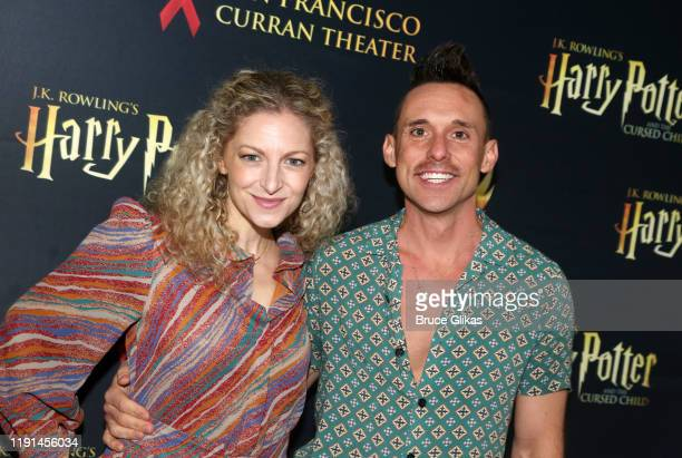 Lauren Molina and Nick Cearley of the Skivvie's pose at the opening night of Harry Potter and The Cursed Child Parts One 2 at The Curran Theatre on...