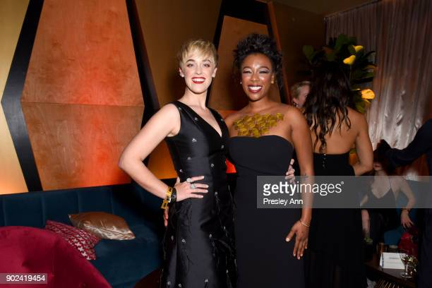 Lauren Morelli and Samira Wiley attend FOX FX and Hulu 2018 Golden Globe Awards After Party at The Beverly Hilton Hotel on January 7 2018 in Beverly...