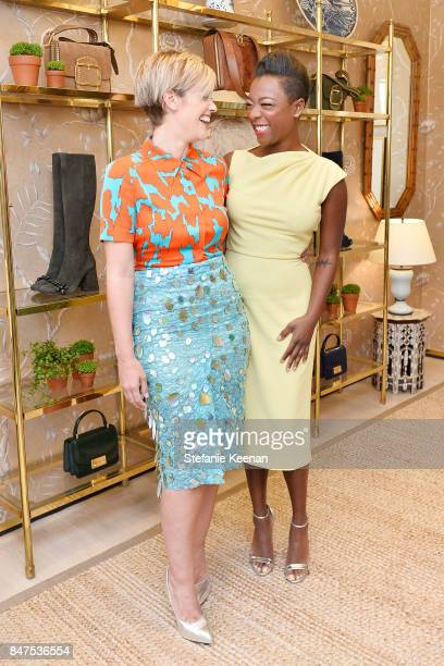 Lauren Morelli and Samira Wiley attend Glamour x Tory Burch Women To Watch Lunch on September 15 2017 in Beverly Hills California