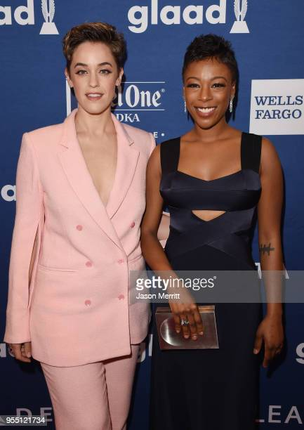 Lauren Morelli and Samira Wiley attend the 29th Annual GLAAD Media Awards at The Hilton Midtown on May 5 2018 in New York City
