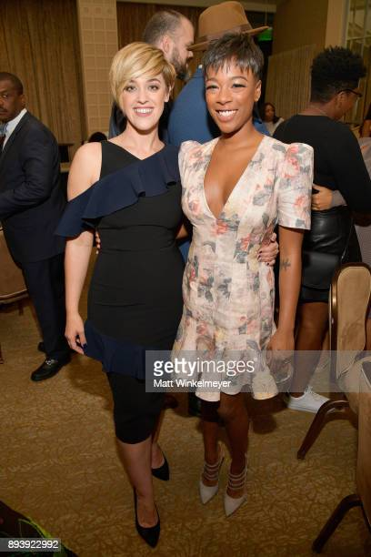 Lauren Morelli and Samira Wiley attend the 49th NAACP Image Awards Nominees' Luncheon at The Beverly Hilton Hotel on December 16 2017 in Beverly...