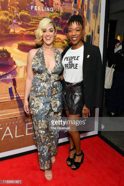 Lauren Morelli and Samira Wiley attend the Tales of the City New York premiere at The Metrograph on June 03 2019 in New York City