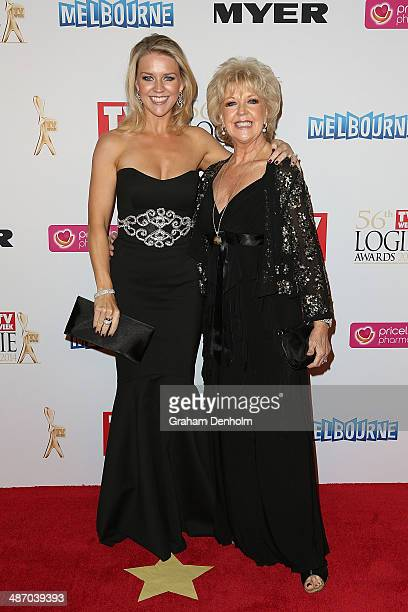 Lauren Newton and Patti Newton arrive at the 2014 Logie Awards at Crown Palladium on April 27 2014 in Melbourne Australia