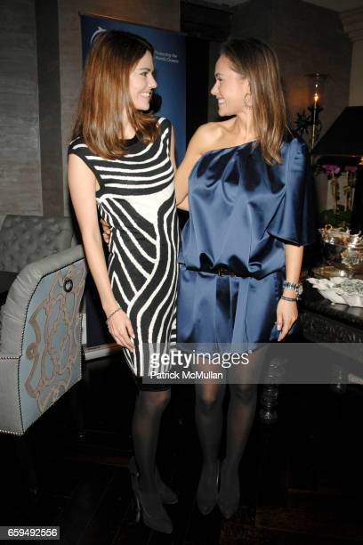 Lauren Norman and Beata Bohman attend OCEANA New York Launch hosted by Alexander and Brenda von Schweickhardt sponsored by TIFFANY Co at Private...