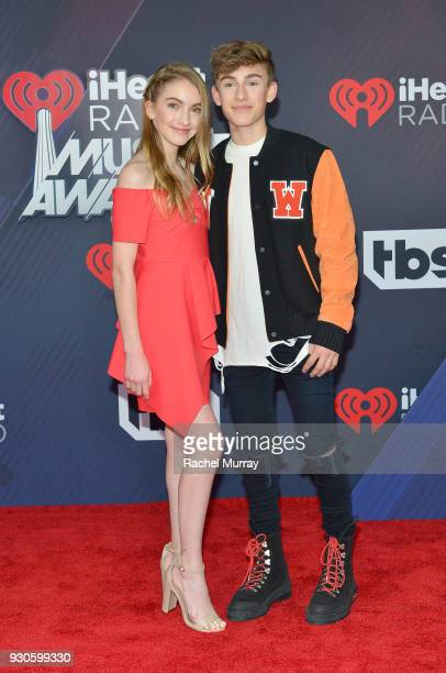 Lauren Orlando and Johnny Orlando arrive at the 2018 iHeartRadio Music Awards which broadcasted live on TBS TNT and truTV at The Forum on March 11...