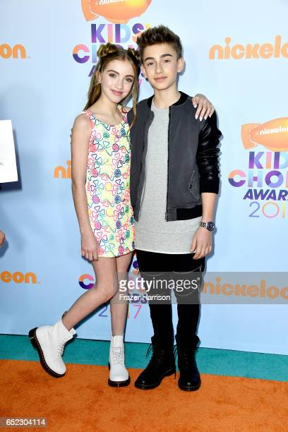 Lauren Orlando and singer Johnny Orlando at Nickelodeon's 2017 Kids' Choice Awards at USC Galen Center on March 11 2017 in Los Angeles California
