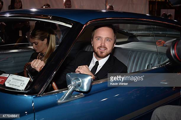 Lauren Parsekian and actor Aaron Paul arrive at the premiere of DreamWorks Pictures' 'Need For Speed' at TCL Chinese Theatre on March 6 2014 in...