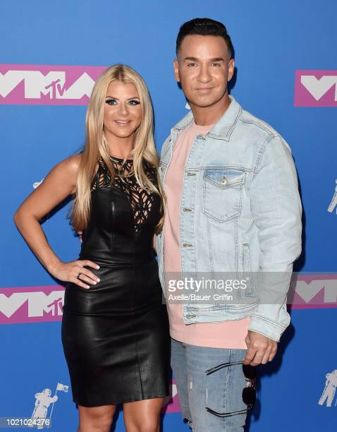 Lauren Pesce and Mike Sorrentino attend the 2018 MTV Video Music Awards at Radio City Music Hall on August 20, 2018 in New York City.