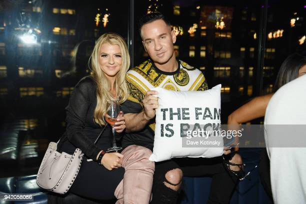 "Lauren Pesce and television personality Mike 'The Situation' Sorrentino attend MTV's ""Jersey Shore Family Vacation"" New York premiere party at PHD at..."