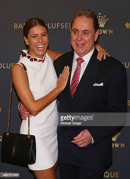 Lauren Phillips and her father Ron Phillips arrive ahead of Crown's inaugural Father's Day luncheon at Crown Entertainment Complex on September 3...