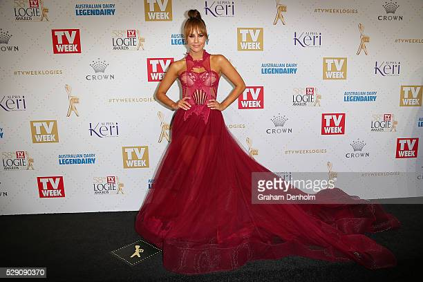 Lauren Phillips arrives at the 58th Annual Logie Awards at Crown Palladium on May 8 2016 in Melbourne Australia