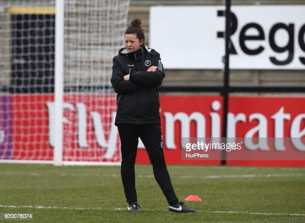 Lauren Phillips Assistant Manager of Millwall Lionesses during The FA Women's Cup Fifth Round match between Arsenal against Millwall Lionesses at...