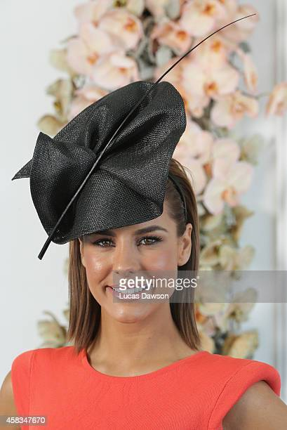 Lauren Phillips at the Myer Marquee on Melbourne Cup Day at Flemington Racecourse on November 4 2014 in Melbourne Australia