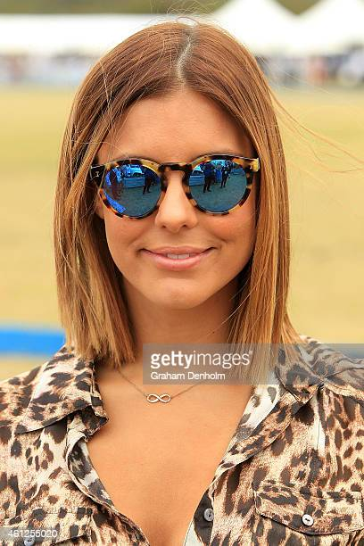 Lauren Phillips attends the Portsea Polo event at Point Nepean Quarantine Station on January 10 2015 in Melbourne Australia