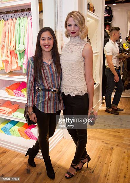 Lauren Plugge and Vlogger Allie Marie Evans at the Teen Vogue and Polo Ralph Lauren December 2014 Houston Store Opening on December 3 2014 in Houston...