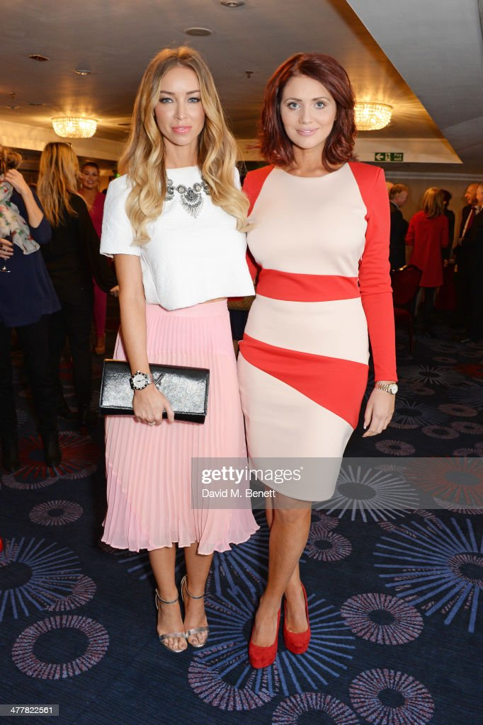 Lauren Pope (L) and Amy Childs attend the TRIC Television and Radio Industries Club Awards at the Grosvenor House Hotel on 11, 2014 in London, England.