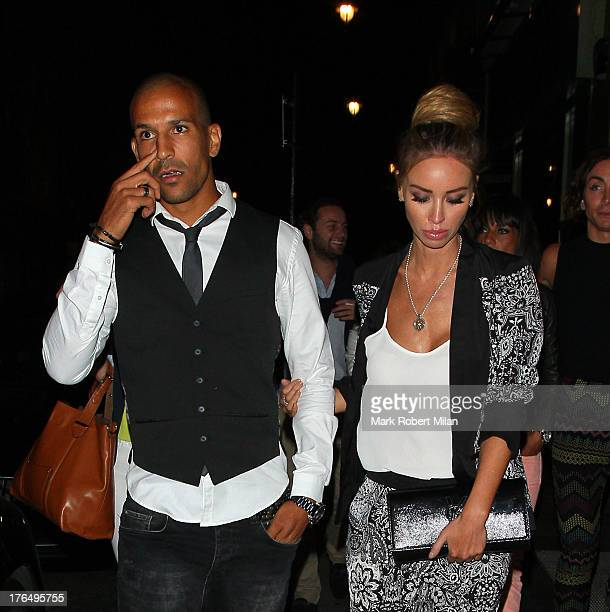 Lauren Pope and boyfriend sighting in Soho on August 13 2013 in London England