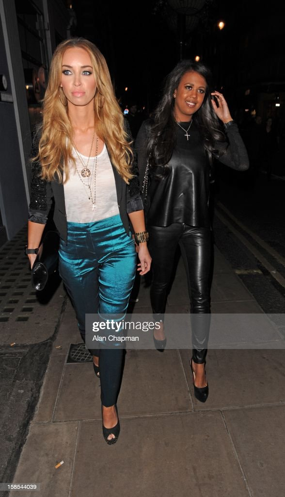 Lauren Pope and Danni Park-Dempsey sighting on December 18, 2012 in London, England.