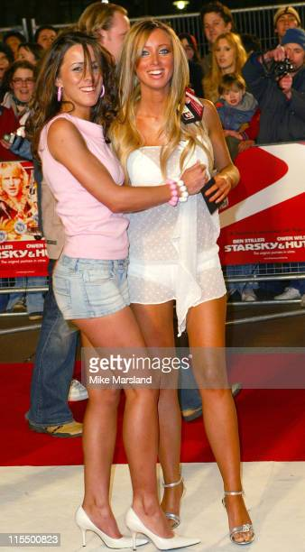 Lauren Pope and Guest during 'Starsky and Hutch' London Premiere Arrivals at Odeon Leicester Square in London United Kingdom
