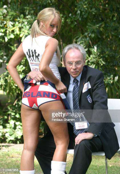 Lauren Pope and Sven GoranEriksson Look alike Derek Williams