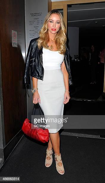 Lauren Pope arrives at Nobu Berkeley Street restaurant in Mayfair on October 2, 2014 in London, England.