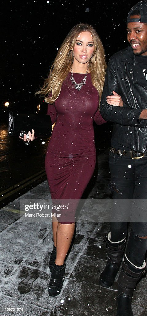 Lauren Pope at Aura night club on January 18, 2013 in London, England.