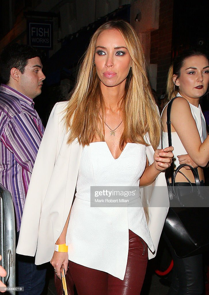 Lauren Pope at No9 Swallow Street night club on December 3, 2013 in London, England.