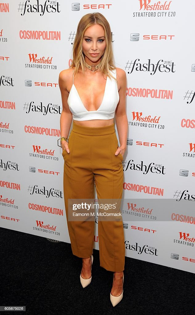 Lauren Pope attends Cosmopolitan #Fashfest 2016 VIP show and party at Old Billingsgate Market on September 15, 2016 in London, England.