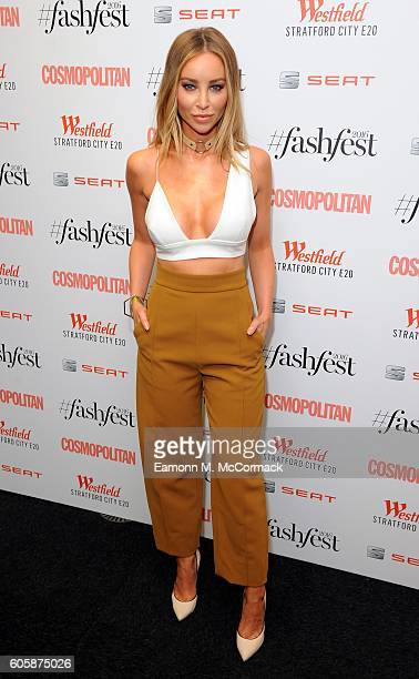Lauren Pope attends Cosmopolitan #Fashfest 2016 VIP show and party at Old Billingsgate Market on September 15 2016 in London England