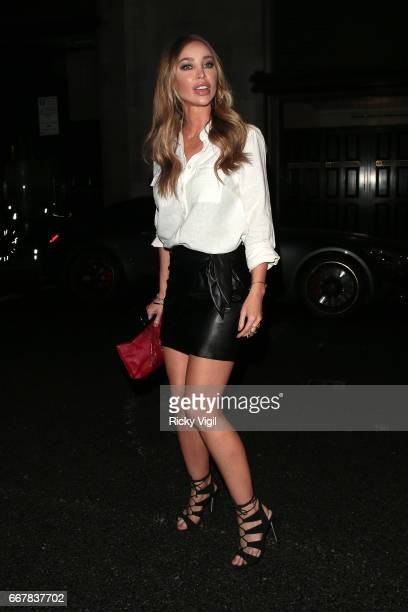 Lauren Pope attends James Ingham's JogOn to Cancer part 5 at Kensington Roof Gardens on April 12 2017 in London England
