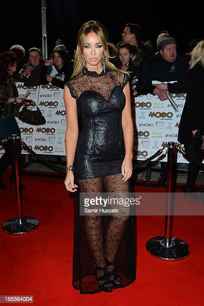 Lauren Pope attends the 2012 MOBO awards at Echo Arena on November 3 2012 in Liverpool England