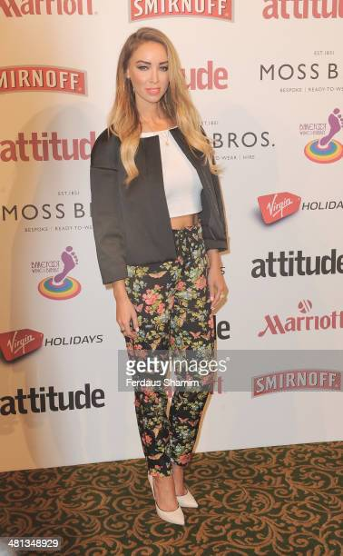 Lauren Pope attends the 20th birthday party of Attitude Magazine at The Grosvenor House Hotel on March 29 2014 in London England
