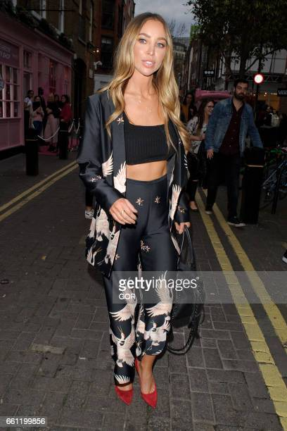Lauren Pope attends the Benefit Cosmetics Party in Covent Garden on March 30 2017 in London England