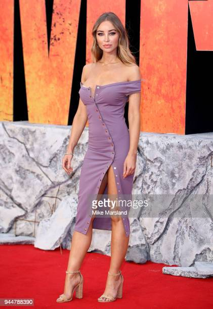 Lauren Pope attends the European Premiere of 'Rampage' at Cineworld Leicester Square on April 11 2018 in London England