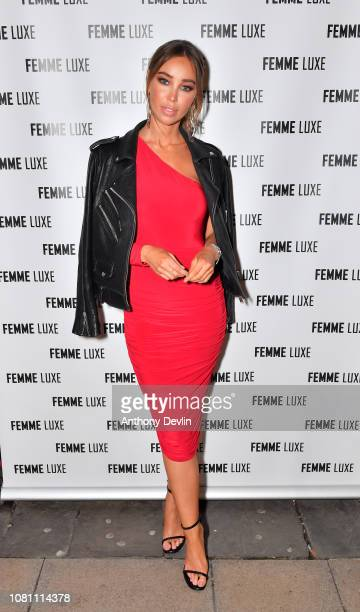 Lauren Pope attends the Femme Luxe festive party at Chinawhite on December 11 2018 in Manchester England